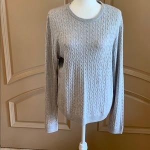 H&M LOGG Merino Wool Blend Cable Knit Sweater NEW